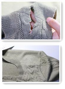 毛衣织补案例图片