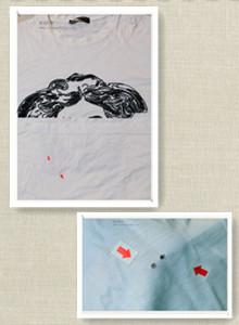 范思哲纯棉体恤织补案例图片